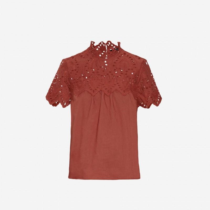 Vero Moda | Vay Bluse | Mahogany-31