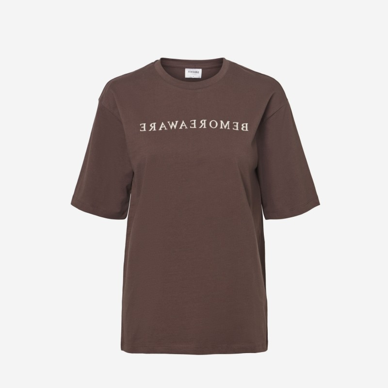 VeroModaAwareIdinTshirtBrun-31