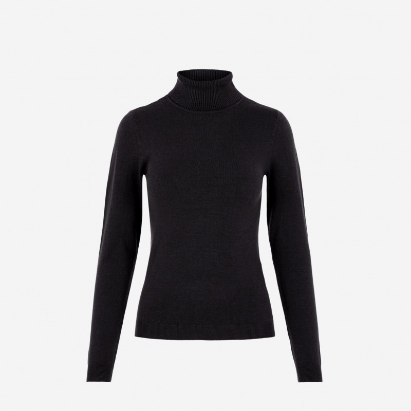 Vero Moda | Happy Rullekrave Bluse | Sort-31