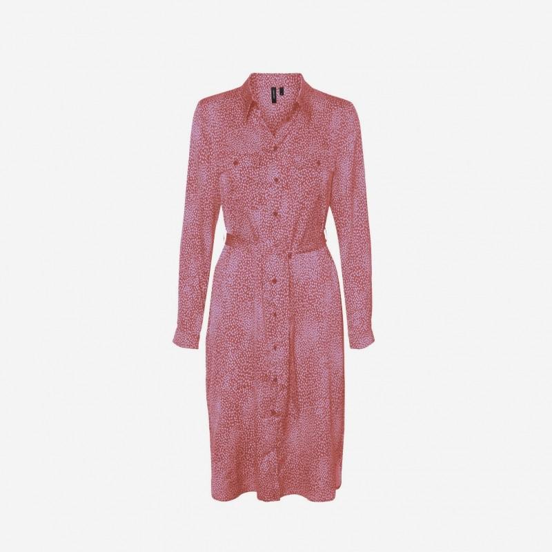 Vero moda | Cailey Skjorte Kjole | Rosa-31
