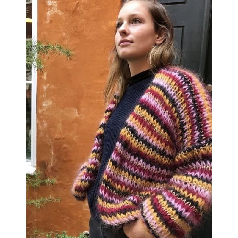 Adele Cph Denmark | Rosa/Gul M. Guld Cardigan | Onesize-31