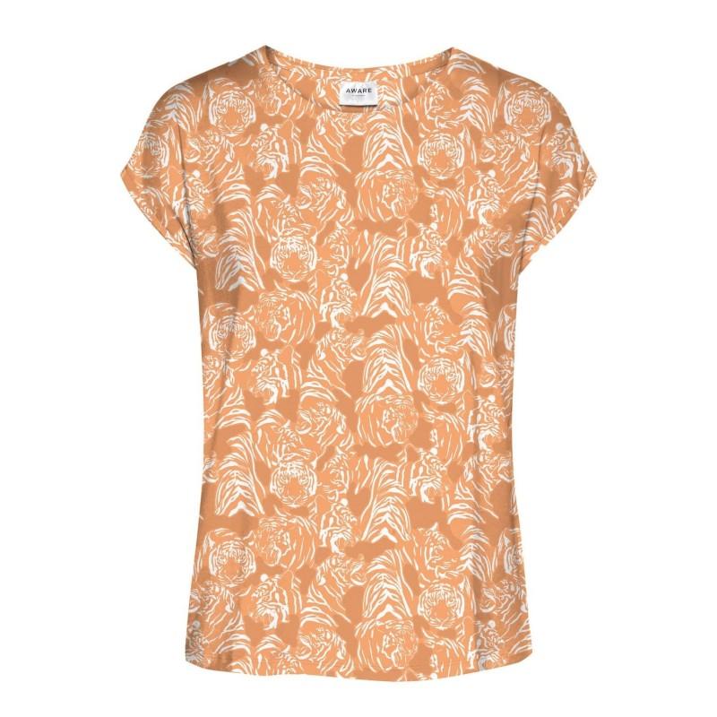 Vero Moda / Aware | Ava T-shirt | Orange M. Tiger-31