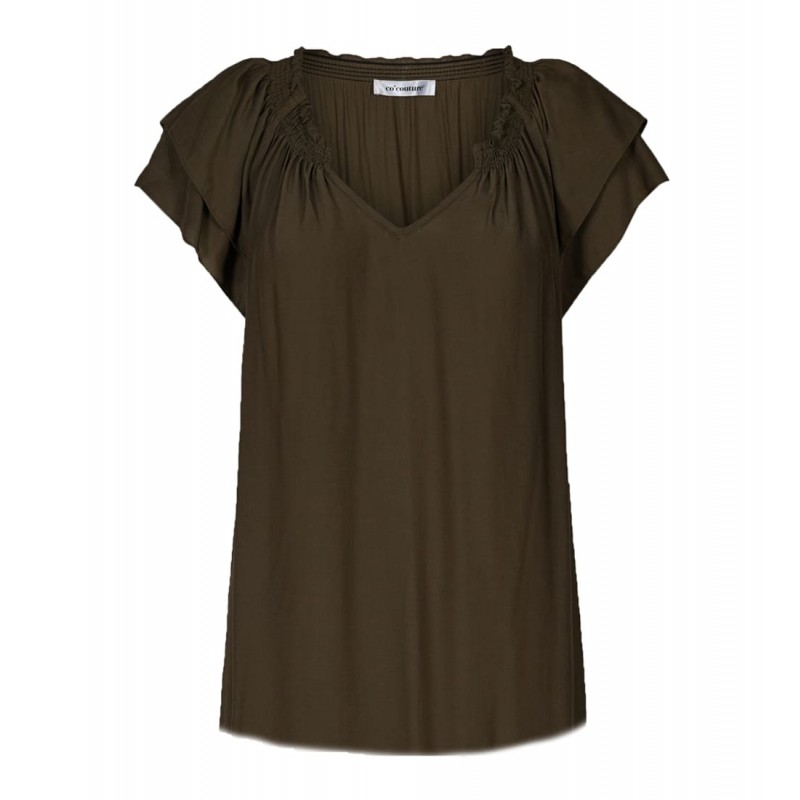 Cocouture | Sunrise Pauline Top | Army-31