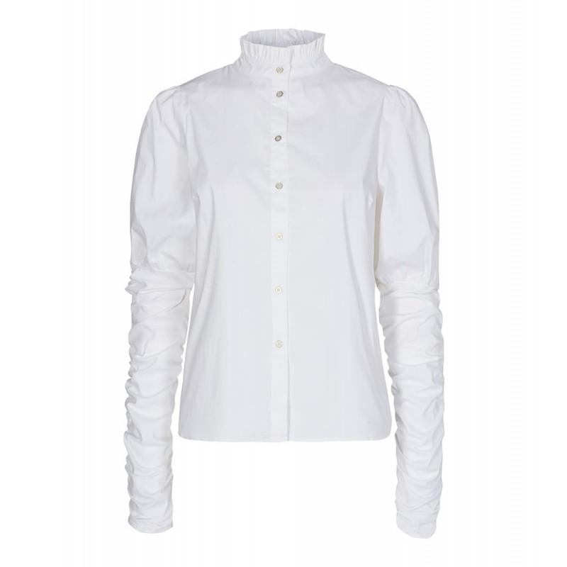 Cocouture I Sandy Poplin Puff Skjorte I Hvid-31