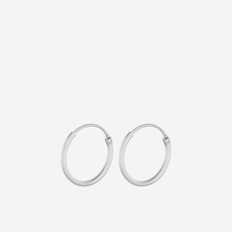 Pernille Corydon   Tiny Plain Hoops   Sølv-31