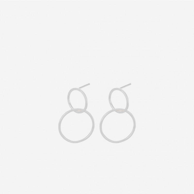 Pernille Corydon | Double Øreringe | Sølv-31
