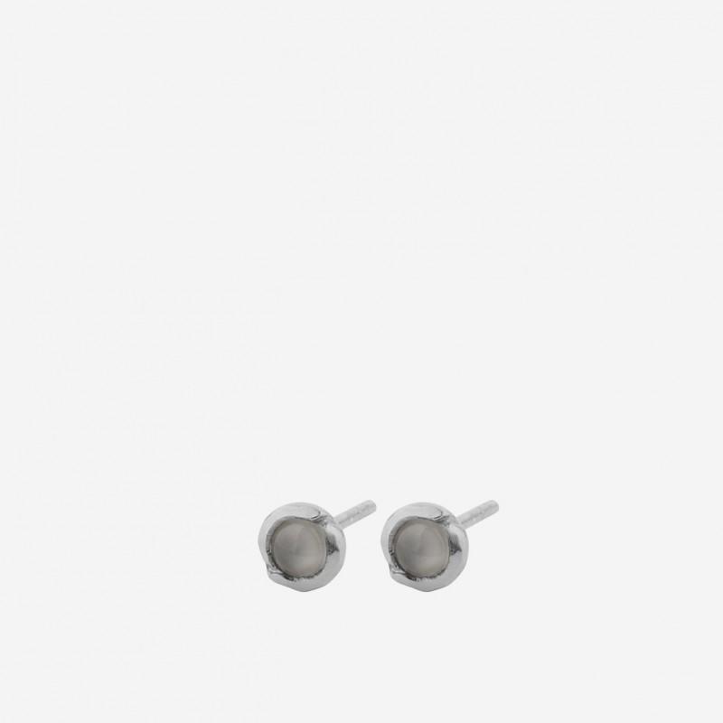 Pernille Corydon | Aura Grey Moonstone Ørestikker | Sølv-31