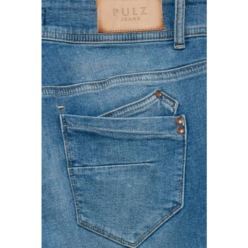 Pulz   Haya Skinny Jeans Curved   Lys Denim-31