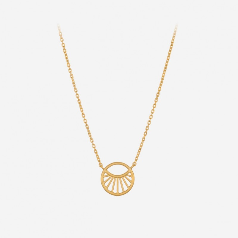 Pernille Corydon | Small Daylight Necklace | Forgyldt-31