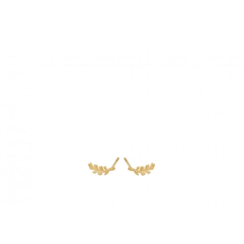 Pernille Corydon | Leaf Earsticks | Forgyldt-31