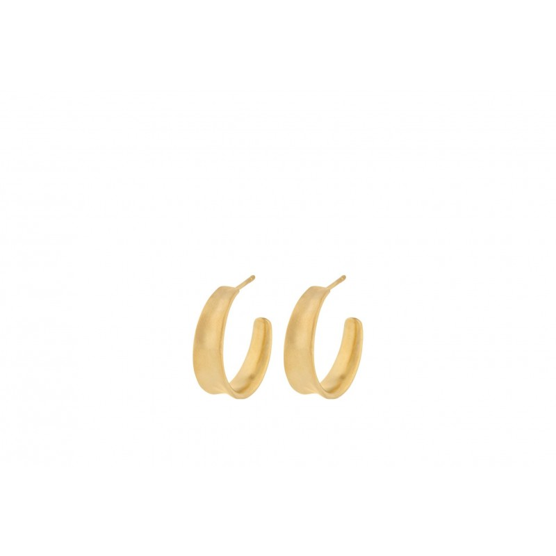 Pernille Corydon I Small saga earrings I Forgyldt-31