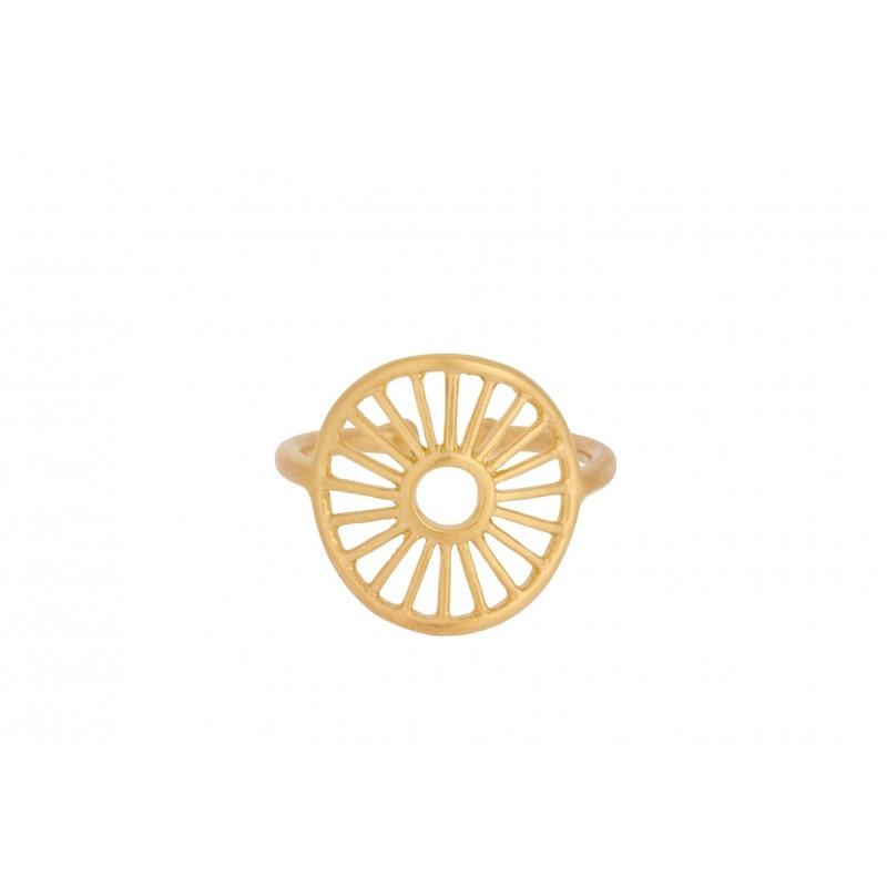 Pernille Corydon | Sunlight Ring | Forgyldt-31