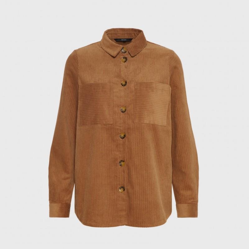 Vero Moda | Cairo Skjorte Jakke | Brun-31