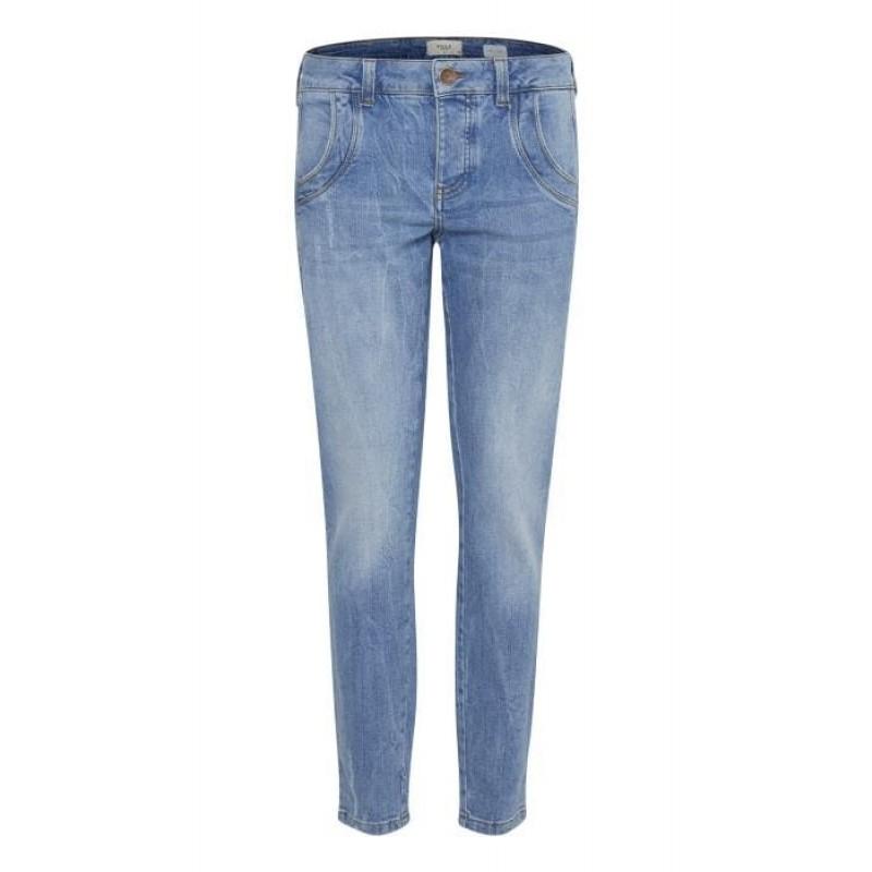Pulz | Melina Loose Jeans | Light Blue Denim-33