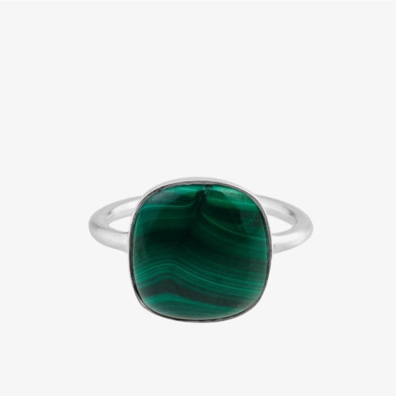 Pernille Corydon   Malachite Ring   Sølv-31