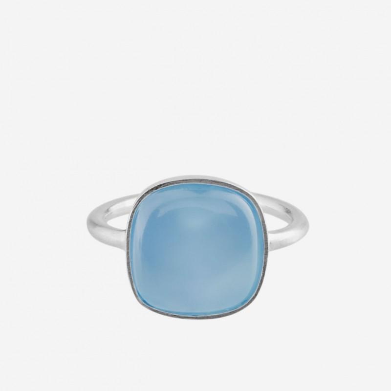 Pernille Corydon | Chalcedony Blue Ring | Sølv-31