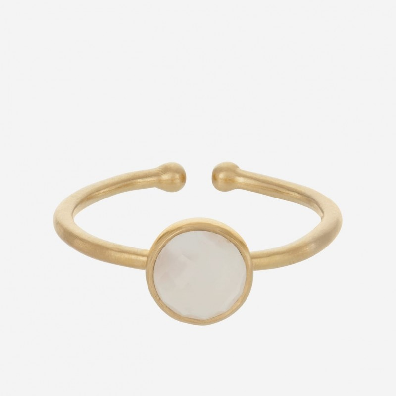 Pernille Corydon | Frosted Ring | Forgyldt-31