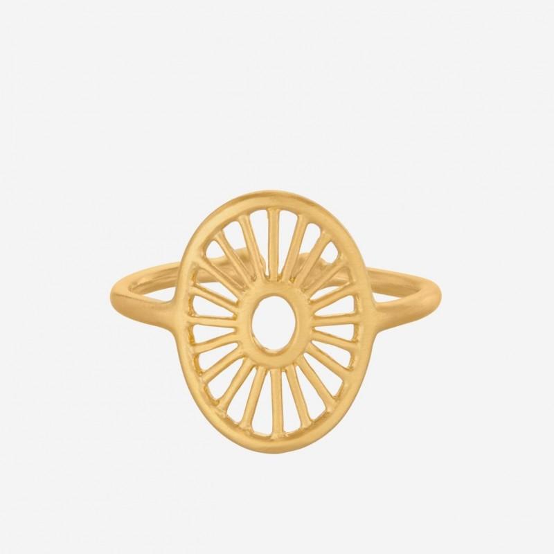 Pernille Corydon   Small Daylight Ring   Forgyldt-31