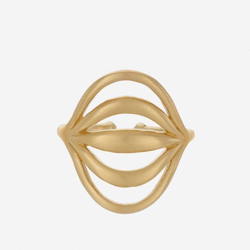 Pernille Corydon | Tidal Ring | Forgyldt-31