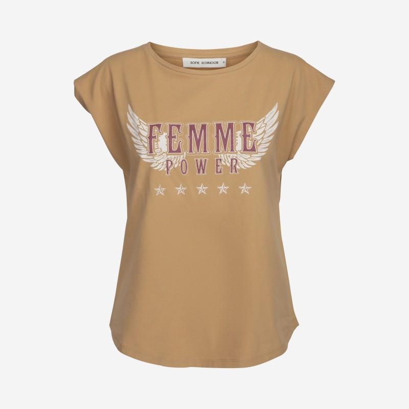 Sofie Schnoor | Nikoline T-shirt | Camel-31