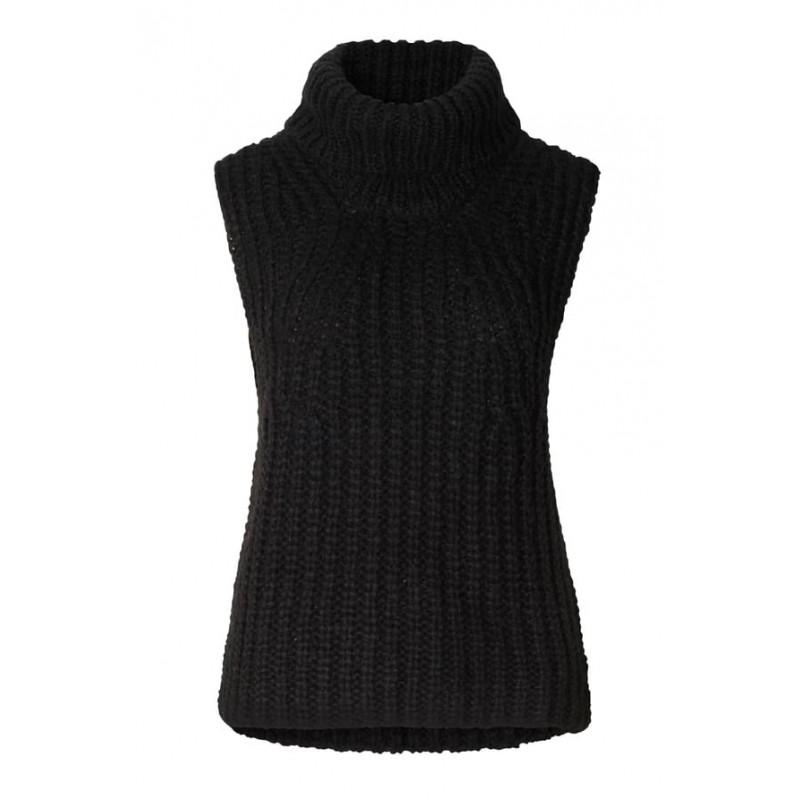 Second Female | Ivory knit vest |-31