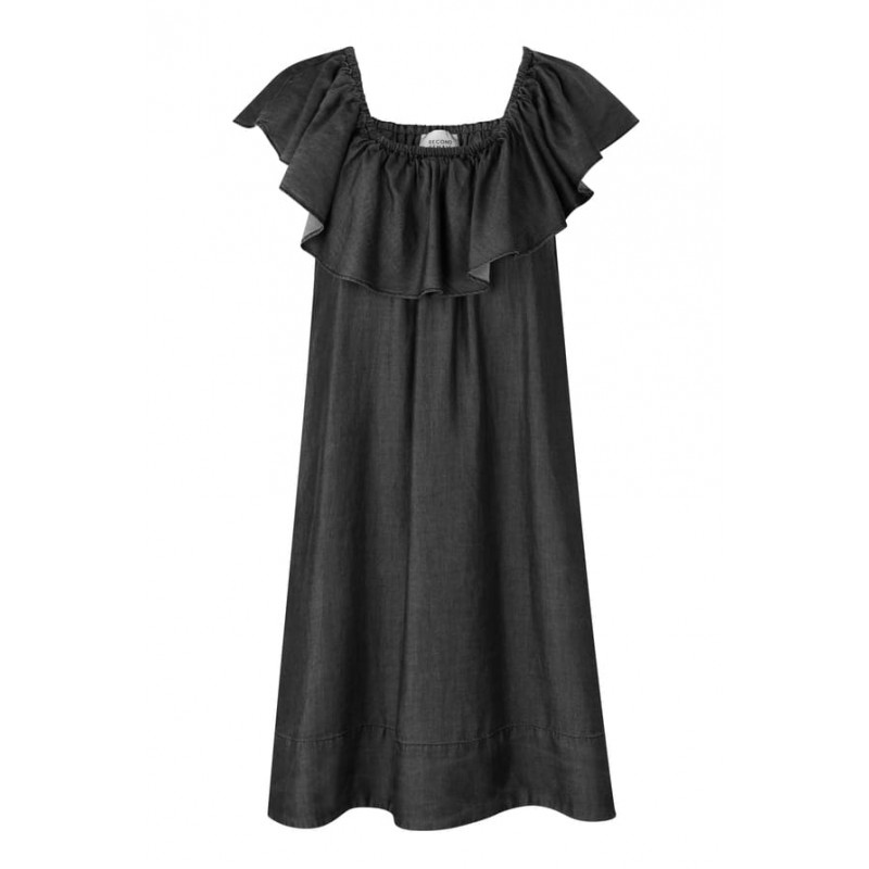 Second Female | Lilla Short Dress I Sort/Grå-31