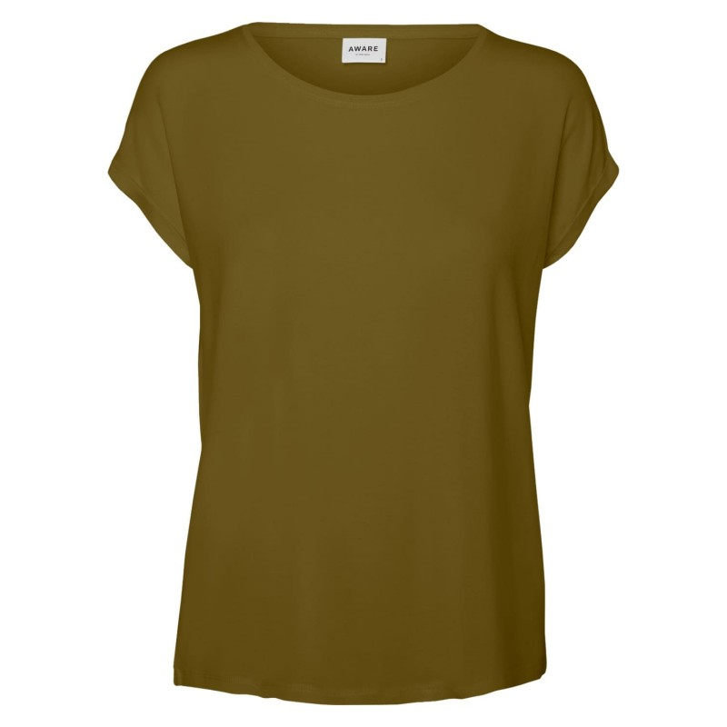 Vero Moda / Aware | Ava T-shirt | Oliven Grøn-33
