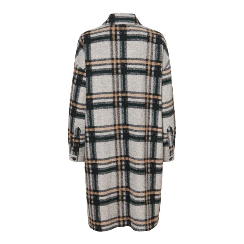 Vero Moda I Chrissie Long Skjorte Jakke I Grå-31