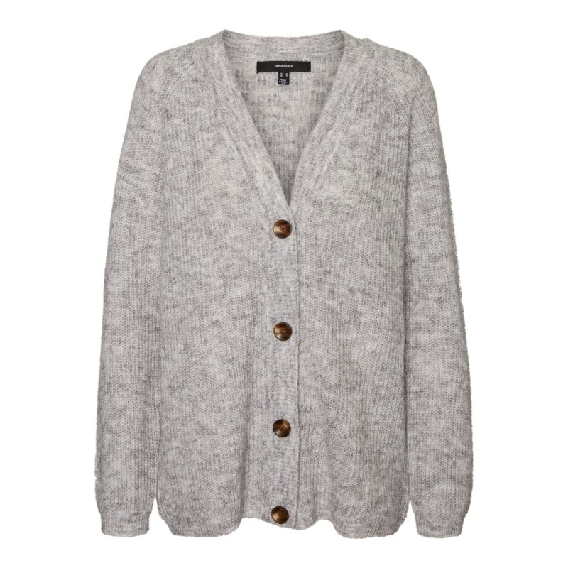Vero Moda I Daisy Button Cardigan I Lysegrå-31