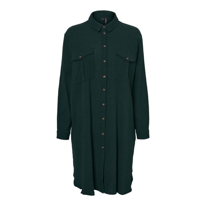 Vero Moda | Finnley Skjorte Kjole | Grøn-31