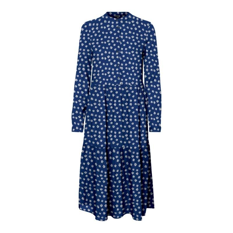 Vero Moda   Simone Kjole   Blå med hvid-32