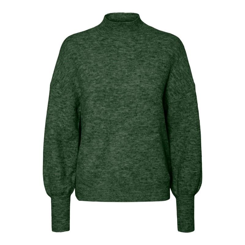 Vero Moda   Simone Ls high neck blouse   Grøn-32