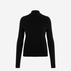 Vero Moda | Karis Highneck Bluse | Sort-20