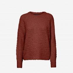 Vero Moda | Agnes Strik | Rødbrun-20