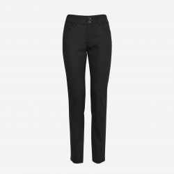 Pulz | Haya Skinny Jeans Curved | Sort Coated-20