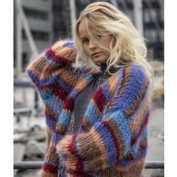 Adele Cph Denmark | Lilla/Blå Cardigan | Onesize-20