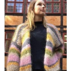 Adele Cph Denmark | Grøn/Rosa Cardigan | Onesize-20