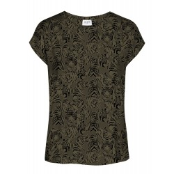 Vero Moda / Aware | Ava T-shirt | Grøn M. Tiger-20
