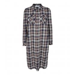 Cocouture | Uni Check Skjorte kjole-20