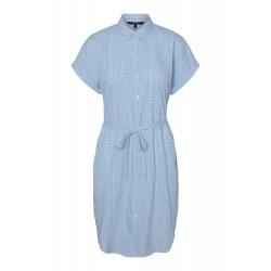 Vero Moda | Heaven Skjorte Kjole | Blå-20