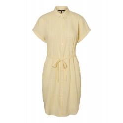 Vero Moda | Heaven Skjorte Kjole | Gul-20