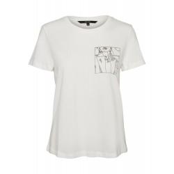 Vero Moda | Katherinafrancis T-shirt | Hvid m. Ansigt-20