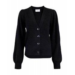 Neo Noir I Gimma Knit Cardigan I Sort-20