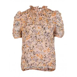 Neo Noir | Dorris Ancient Flower Bluse-20