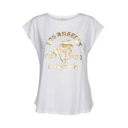 Sofie Schnoor | Nikoline T-shirt | Hvid M. Guld Print-20