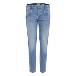 Pulz | Melina Loose Jeans | Light Blue Denim-20