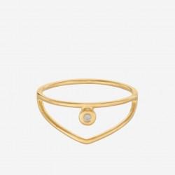 Pernille Corydon | Barcelona Ring | Forgyldt-20