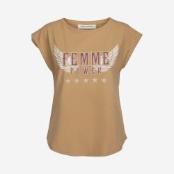 Sofie Schnoor | Nikoline T-shirt | Camel-20