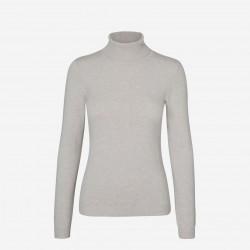 Vero Moda | Happy Rullekrave Bluse | Grå-20