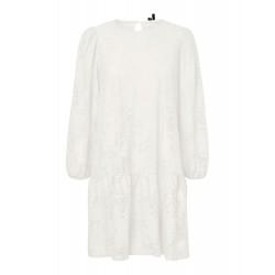 Vero Moda I Alvira Jaquard Kjole I Hvid-20